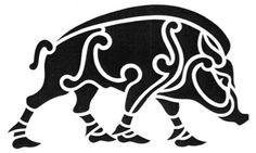 tribal boar