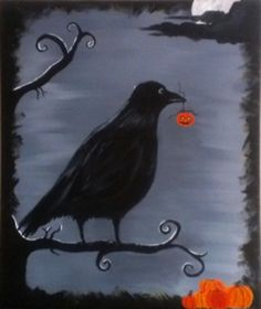 Scare Crow Get in the holiday spirit with this spooky Scare Crow painting. This is a great painting for decorating the house for Halloween.