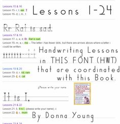 Worksheets Teach Your Child To Read In 100 Easy Lessons Worksheets pinterest the worlds catalog of ideas hwt handwriting lessons 1 24 in series print that are coordinated with book teach your child to read 100 easy l