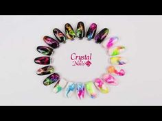 Crystal Nails Color Vortex technika - YouTube