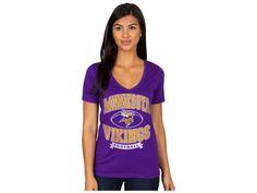 Minnesota Vikings NFL Women's Logo T-Shirt New #JunkFood #MinnesotaVikings
