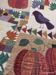 Scrappy Fall Quilt and More | A Quilting Life - a quilt blog