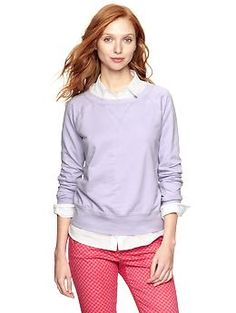 so obsessed with this color for spring.  Sunkissed pullover   Gap