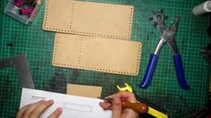 Cut out the strip that holds the flap down. We'll align the stitching holes in the next step