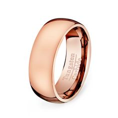 Hey, I found this really awesome Etsy listing at https://www.etsy.com/listing/199383093/rose-gold-tungsten-ring-classic-dome