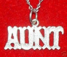 Silver #1 BEST AUNT Pendant Charm I LOVE YOU Jewelry Sterling Silver 925 Jewelry