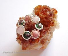 Heart Chakra Pendant with Rose Quartz by GabrielasHandiwork