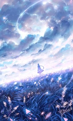 The Art Of Animation Paisajes Anime, Beautiful Anime Art, Pretty Anime Girl, The Star, Anime Fantasy, Fantasy Art, Manga Anime, Main Manga, Anime Galaxy