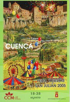San Julián 2005 Programa oficial de las Fiestas de San Julián 2005 del 18 al 28 de agosto Pregón de fiestas a cargo del periodista conquense José Ángel García #FiestasPopulares #Cuenca #SanJulian
