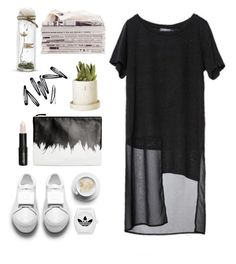 """calm"" by seriouskatya ❤ liked on Polyvore featuring H&M, Lord & Berry, adidas Originals and Monki"