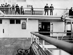 Browne traveled on a first class ticket...this is a view of some passengers on the second class promenade