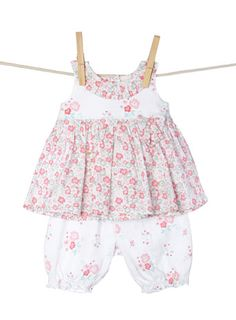 Baby Girls Floral Top and Bloomer Set