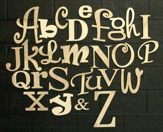 """Alphabet Set, Unfinished and Ready to be Painted! Letters are 4"""" to 12"""" tall by simplysawdust on Etsy https://www.etsy.com/listing/74676830/alphabet-set-unfinished-and-ready-to-be"""