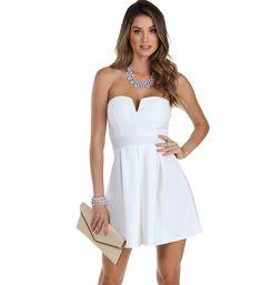 Grad dress $36 Ivory Love Taker Skater Dress