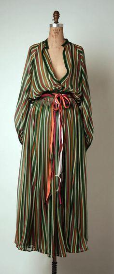 Ensemble Geoffrey Beene (American) ca. 1977 silk
