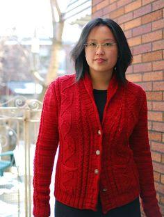 Carter Cardigan pattern by Laura Chau (aran 18st/28r)