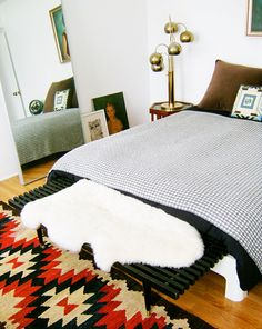 design sponge: sneak peek: morgan satterfield - love the bedroom with large IKEA mirror