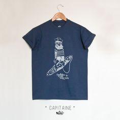 CAPITAINE t-shirt marin homme sérigraphié MaRegion de Niak Original sur DaWanda.com