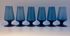 Caithness Glass goblets in Twilight blue Caithness Glass, Blue Design, Twilight, Vase, Home Decor, Decoration Home, Room Decor, Vases, Home Interior Design