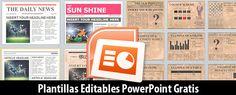 Plantillas de Periódicos Editables en PowerPoint Gratis | Magical Art Studio