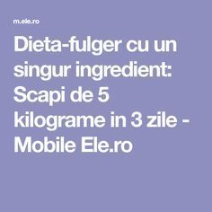 Dieta-fulger cu un singur ingredient: Scapi de 5 kilograme in 3 zile - Mobile Ele.ro Paramore, Pavlova, Smoothies, Health Fitness, Workout, Sport, Lady Gaga, Fabrics, Food