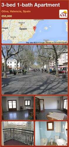3-bed 1-bath Apartment in Oliva, Valencia, Spain ►€55,000 #PropertyForSaleInSpain