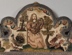 English Mirror detail, third quarter of 17th century. Metropolitan Museum of Art.