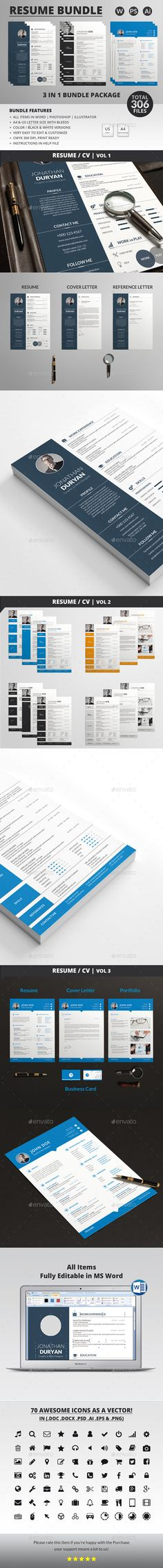 Resume Template PSD, AI, EPS, DOCX \ DOC Resume Templates - psd resume templates