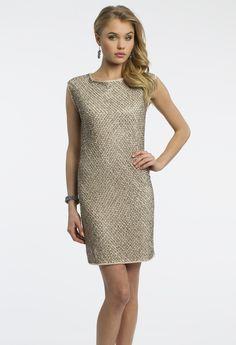 Camille La Vie Charmeuse Chemise Classic Short Dress