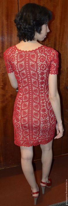 """Платья ручной работы. Ярмарка Мастеров - ручная работа платье вязаное """"с пылу с жару"""". Handmade."""