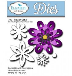 Elizabeth Craft Designs Dies - Flower Set 2