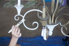How to hand paint a chandelier using MMS Milk Paint
