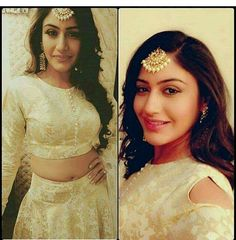 shqbaaz Jewellery Trends by Anika & Gauri, Maang Tikka from Ishqbaaz, Surbhi Chandna, Festival Dress, Actors, Groom Dress, Beautiful Saree, Bollywood Fashion, Jewelry Trends, Indian Outfits, Indian Fashion