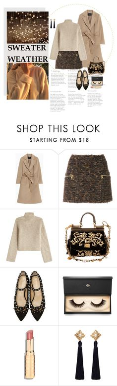"""""""let's have an adventure"""" by emyemoemu ❤ liked on Polyvore featuring Max&Co., Balmain, Rosetta Getty, Dolce&Gabbana, Charlotte Olympia, Lash Star Beauty and MANGO"""