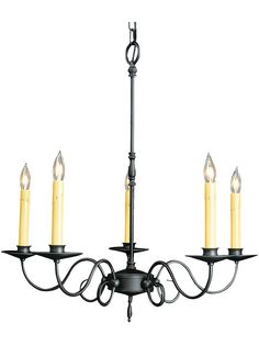 Roanoke 5 Light Chandelier With Charcoal Black Finish | House of Antique Hardware