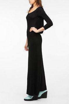 Sparkle & Fade Cowl-Back Long-Sleeved Maxi Dress