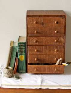 Multi Drawer Desk Organizer From Vintage Crates