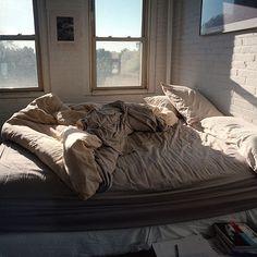 Interior brick.  Simple sheets.