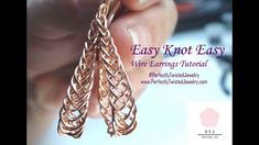 Wire earrings 500181102369344263 - Easy Knot Easy Wire Braided Earrings – Free Wire Work Step by Step Video… A Perfectly Twisted; Jewelry Tutorial Source by PerfectlyTwistedJewelry Wire Wrapped Jewelry, Wire Jewelry, Jewelry Crafts, Beaded Jewelry, Jewelry Ideas, Etsy Jewelry, Jewelry Stores, Macrame Tutorial, Earring Tutorial