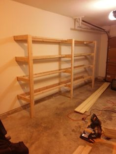 DIY Garage Shelves -