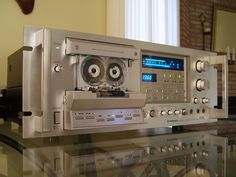 Pioneer CT-F1250 cassette deck playing the TDK MA-90 metal tape