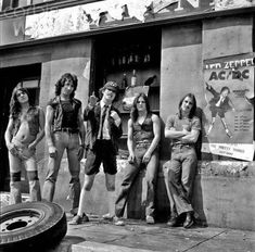 AC/DC with Bon Scott, 1970s. I was lucky enough to see these guys in the '70's... what a night ~!  :)