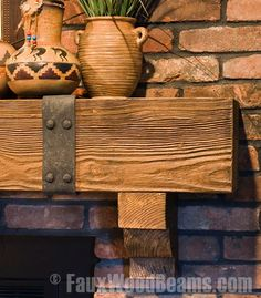 Inspire your own fireplace mantel ideas with this photo gallery of gorgeous real wood and faux wood mantels, beautifully installed in various settings. Fireplace Redo, Fireplace Design, Country Fireplace, Fireplace Mantles, Fireplace Ideas, Wood Mantle, Mantel Shelf, Rustic Fireplaces, Brick Fireplaces