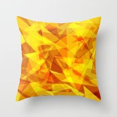 Cool Pillow Print and many other personalized objects♥♥♥  http://society6.com/product/triangle-of-fire_pillow#25=193&18=126