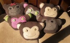 Monkey Cuddle cushions