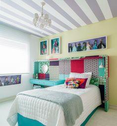 menina, branco, lilás, bege, turquesa, mix de cores, listras, patchwork