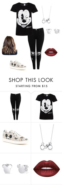 """Disney 😄"" by fangirl2damax ❤ liked on Polyvore featuring Boohoo, Disney, MOA Master of Arts, Belk Silverworks and Lime Crime"