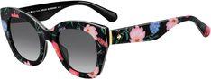 Kate Spade Womens Jalena/s Square Sunglasses Floral Print 49 mm Kate Spade Sunglasses, Cat Eye Sunglasses, Sunglasses Women, Designer Shades, Timeless Fashion, Eyewear, Fashion Trends, Black, Lenses