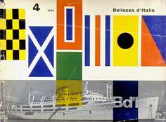 Bellezza d'Italia - book cover by Franco Grignani, 1955 #graphic_design #patterns