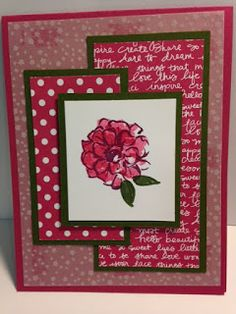 What I Love, Birthday Card, Stampin' Up!, Rubber Stamping, Handmade Card